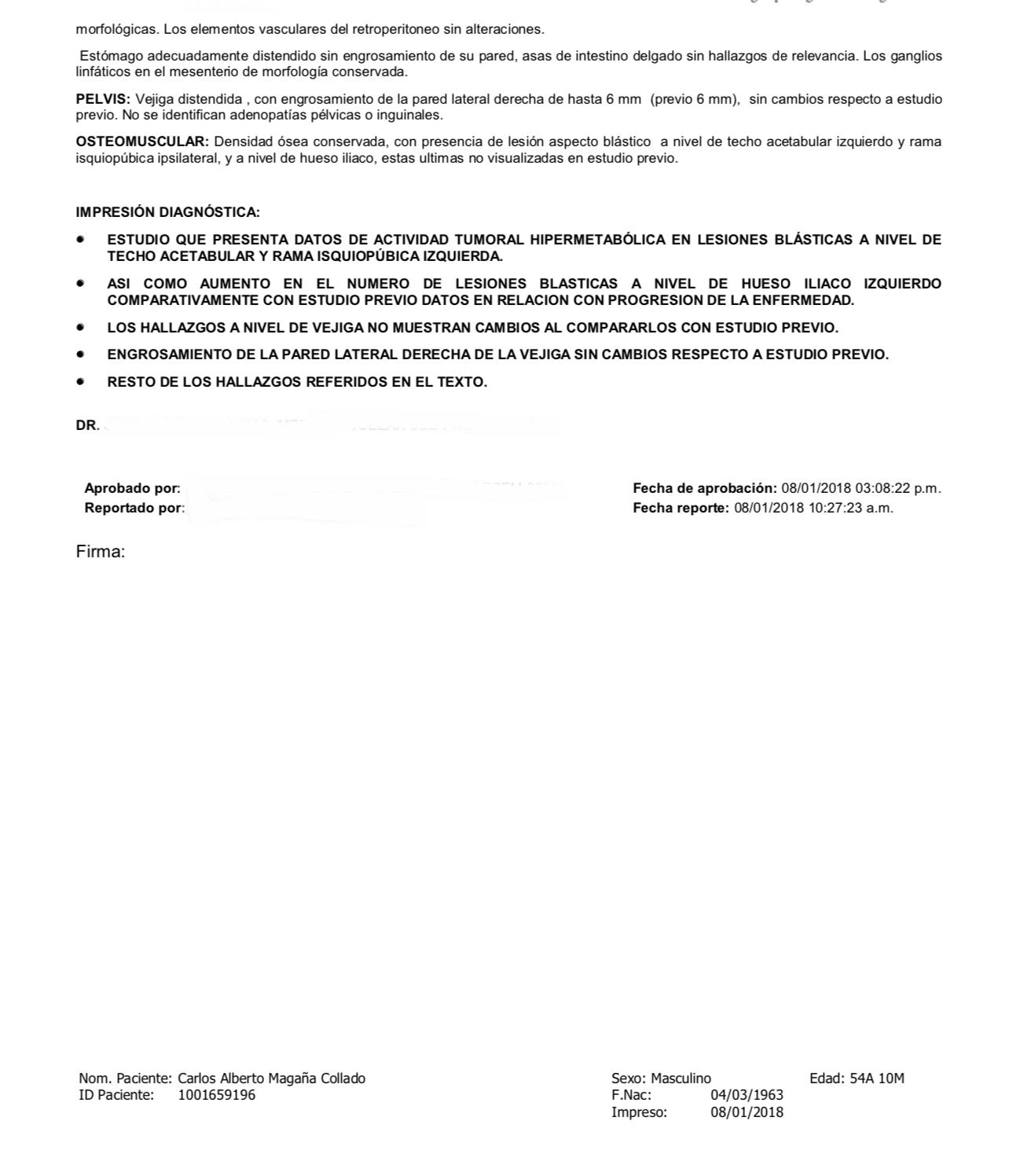 LifEscozul® - C.A.M. 2 - Cáncer de Vejiga