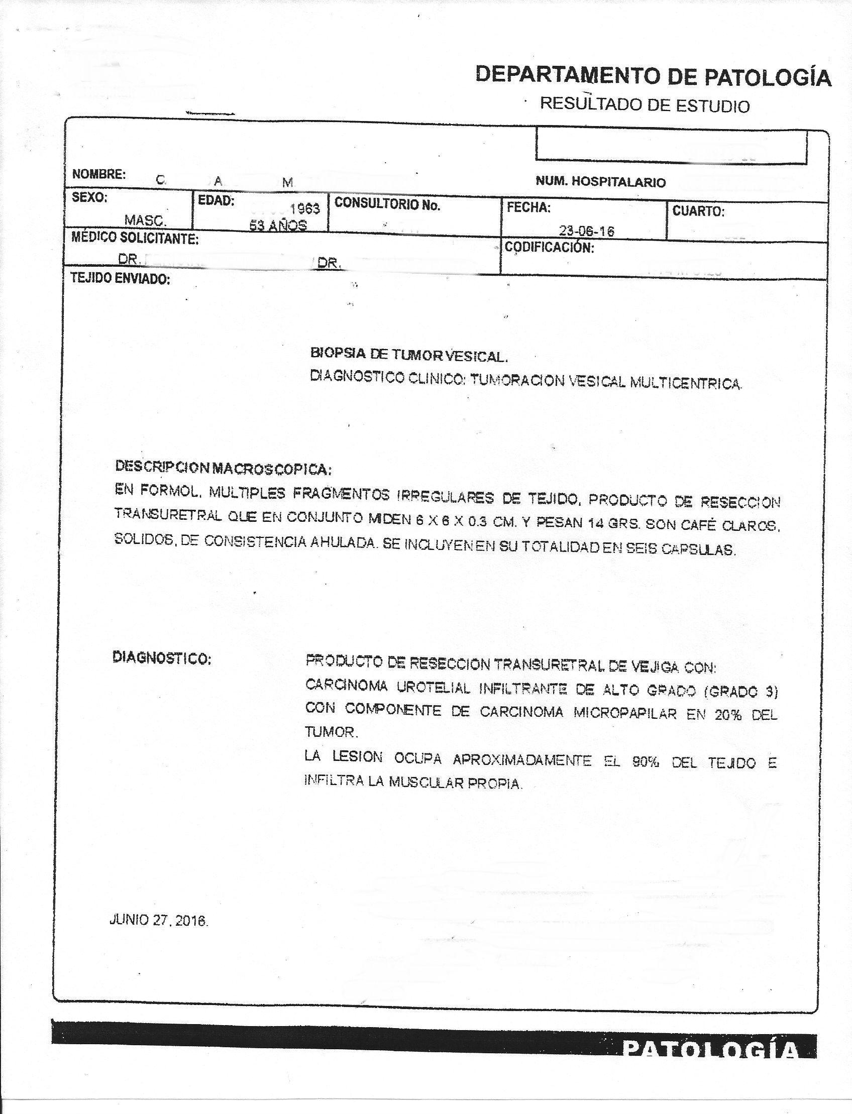 LifEscozul® - C.A.M. 3 - Cáncer de Vejiga