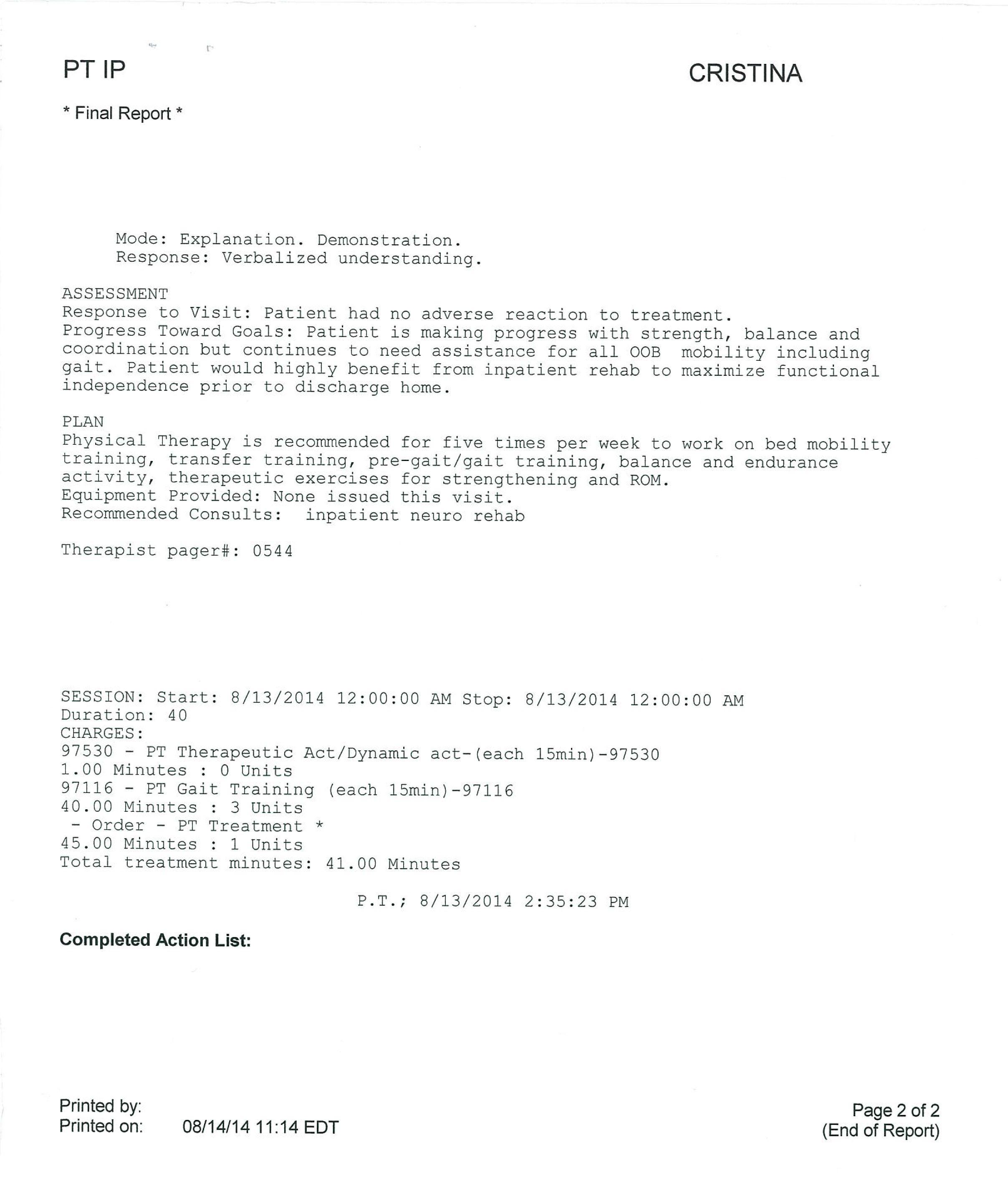 LifEscozul® - Cristina 1 - Cáncer Cerebral
