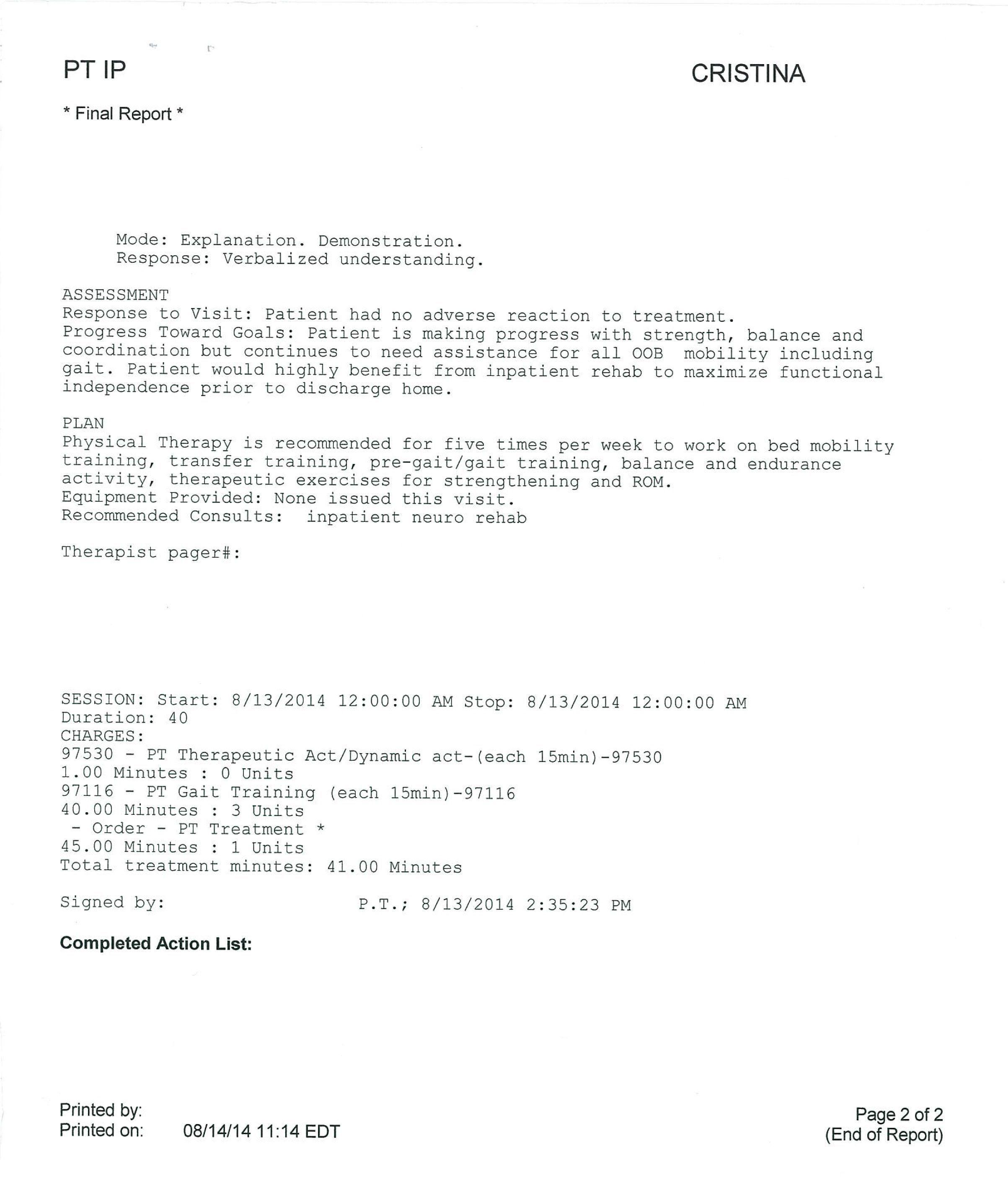 LifEscozul® - Cristina 7 - Cáncer Cerebral