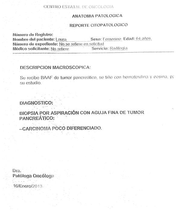 LifEscozul® - Laura 18 - Cáncer de Páncreas