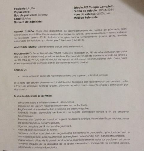 LifEscozul® - Laura 5 - Cáncer de Páncreas