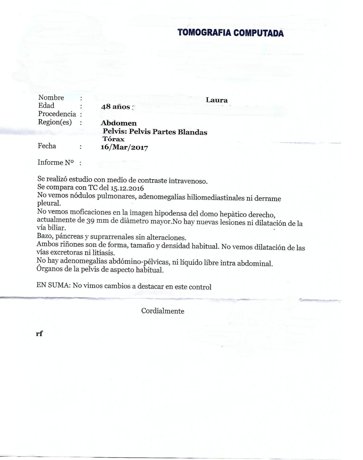 LifEscozul® - Laura 1 - Cáncer de Hígado