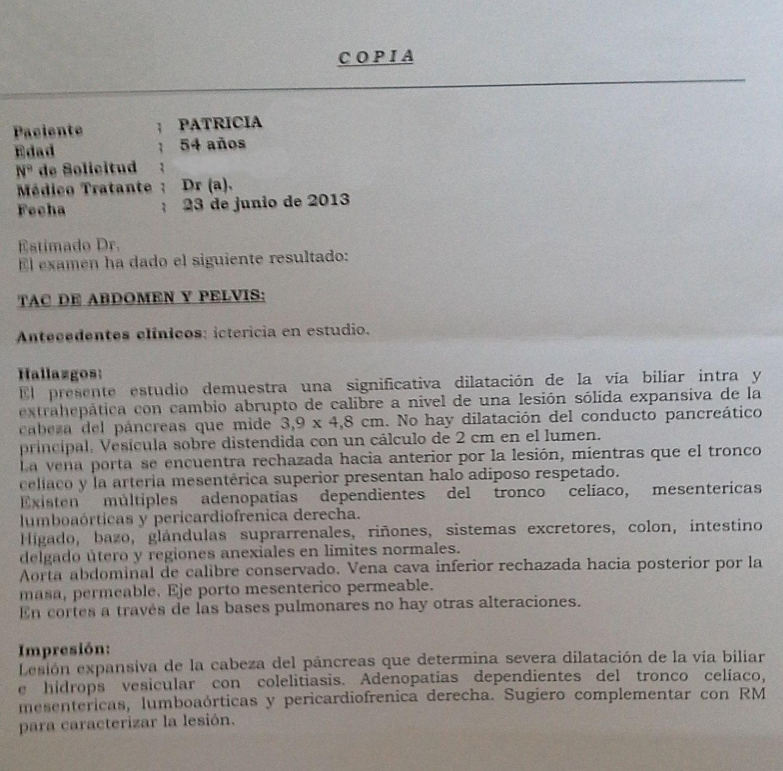 LifEscozul® - Patricia 16 - Cáncer de Páncreas