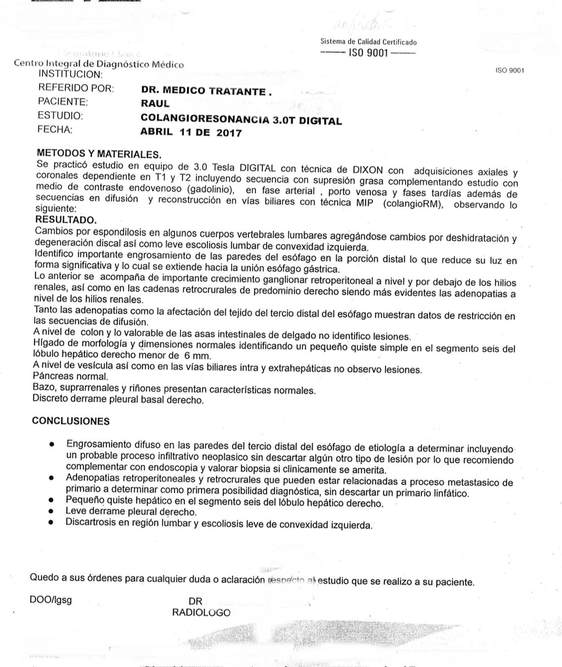 LifEscozul® - Raúl 2 - Cáncer Gástrico Intestinal