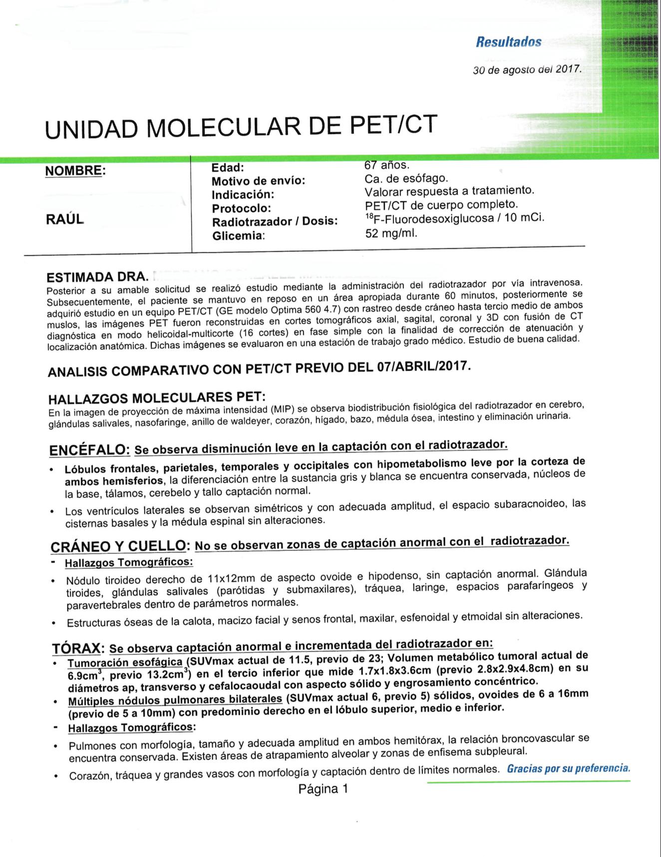 LifEscozul® - Raúl 5 - Cáncer Gástrico Intestinal