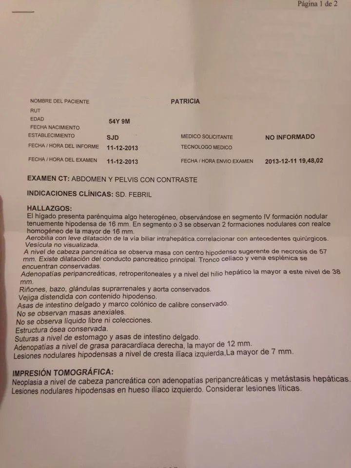 LifEscozul® - Patricia 17 - Cáncer de Páncreas