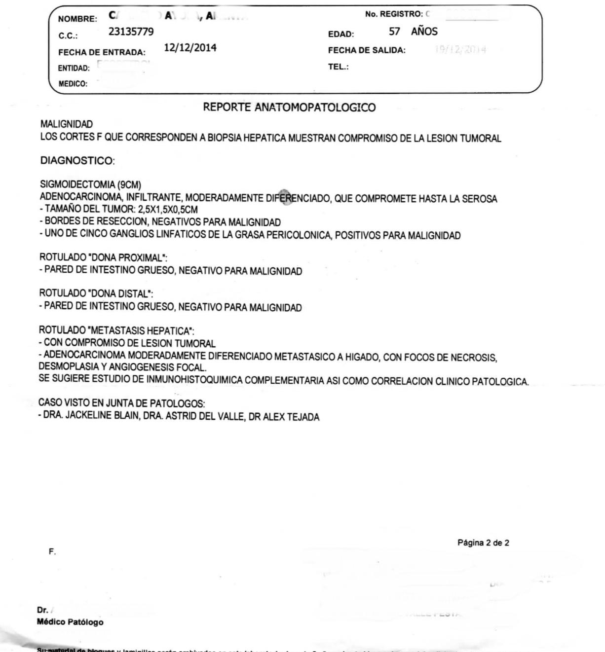 LifEscozul® - A.C.A. 1 - Cáncer de Cólon