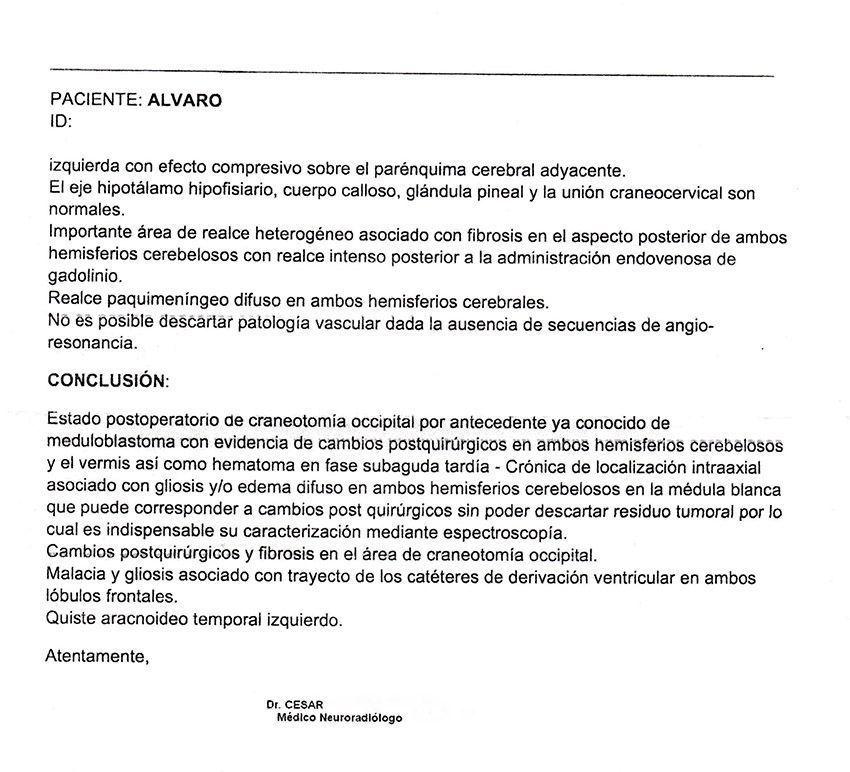 LifEscozul® - Alvaro 10 - Cáncer Cerebral