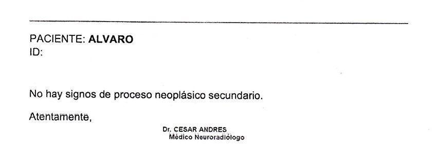 LifEscozul® - Alvaro 12 - Cáncer Cerebral
