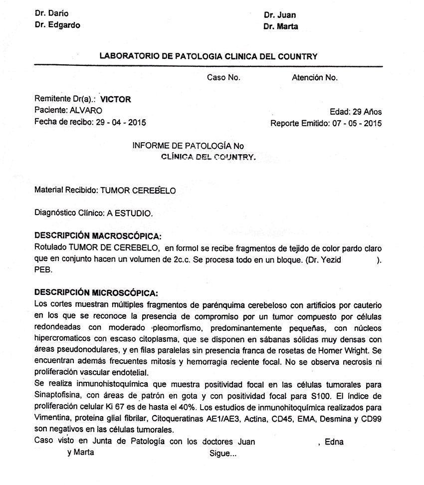 LifEscozul® - Alvaro 2 - Cáncer Cerebral