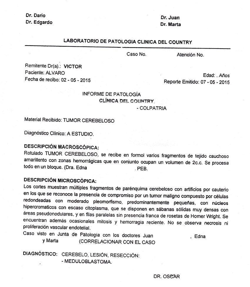 LifEscozul® - Alvaro 3 - Cáncer Cerebral