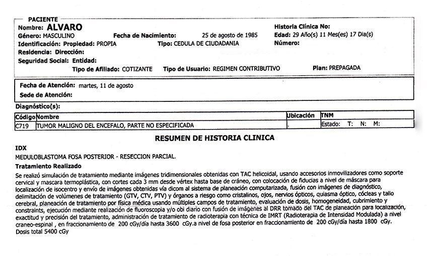 LifEscozul® - Alvaro 4 - Cáncer Cerebral