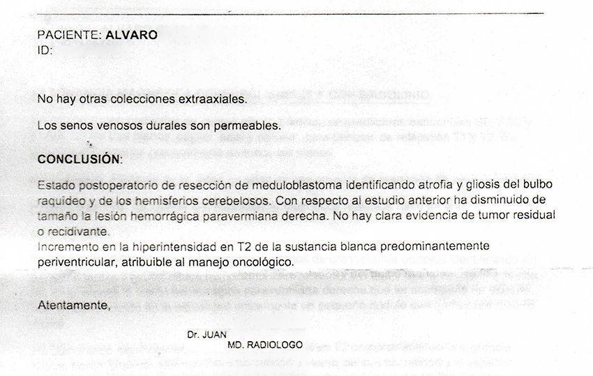 LifEscozul® - Alvaro 5 - Cáncer Cerebral