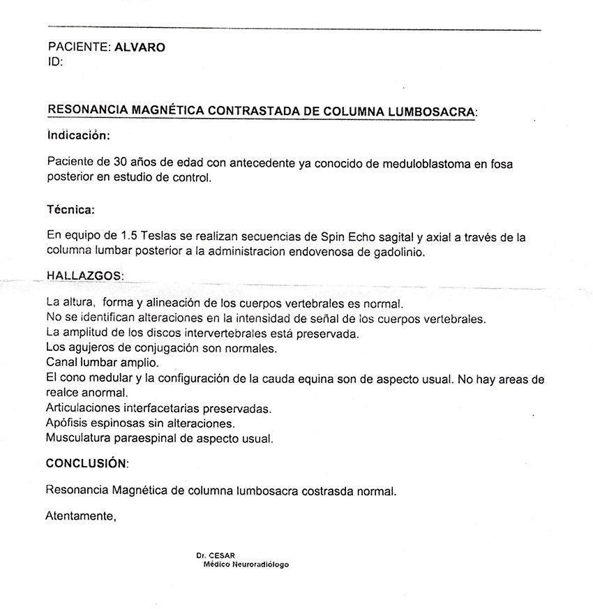 LifEscozul® - Alvaro 6 - Cáncer Cerebral