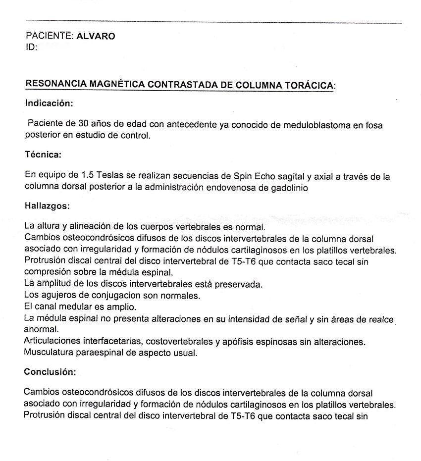 LifEscozul® - Alvaro 7 - Cáncer Cerebral