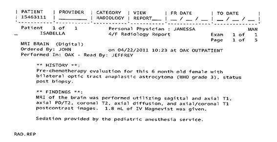 LifEscozul® - Isabella 6 - Cáncer Cerebral