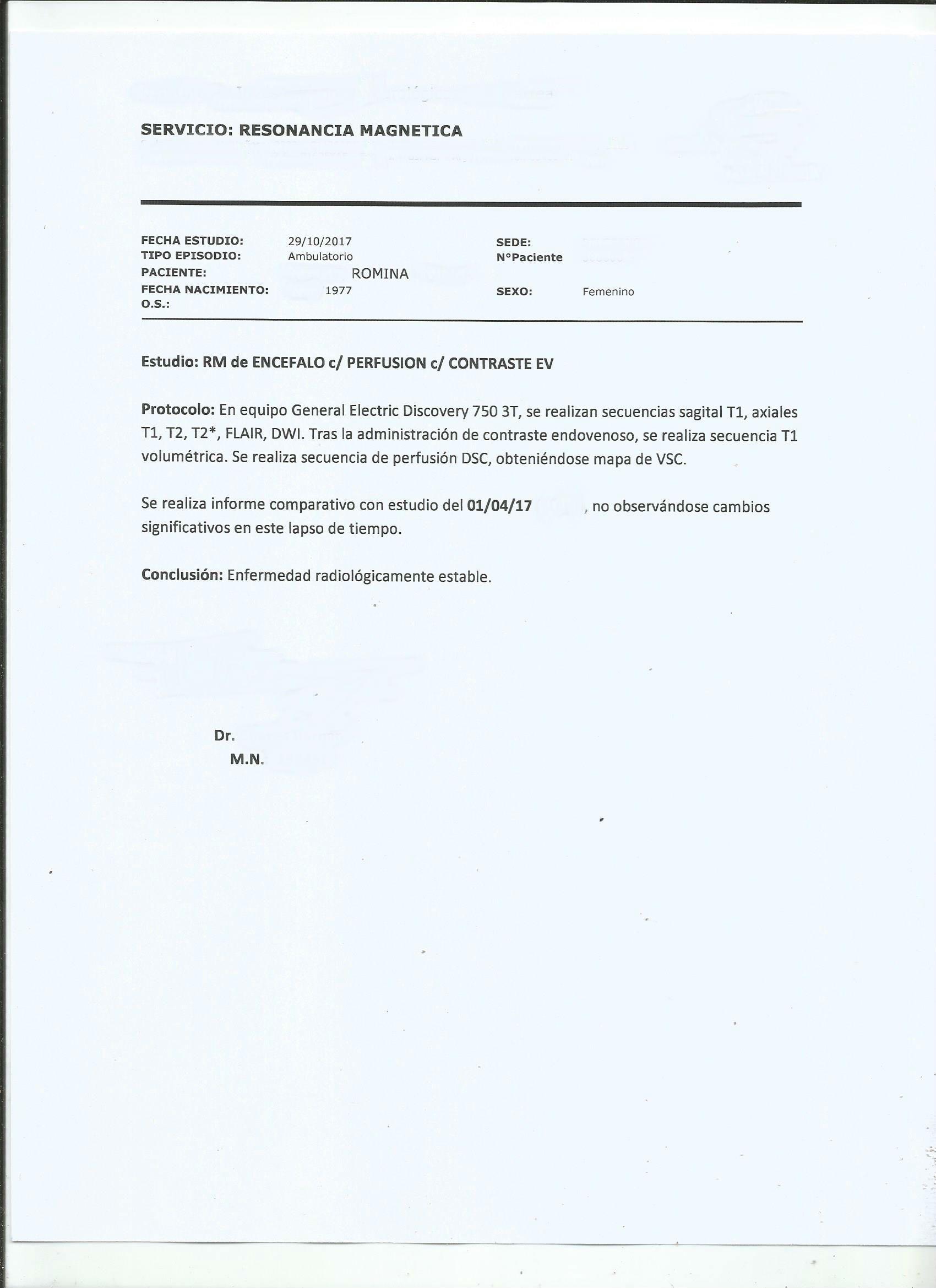 LifEscozul® - Romina 7 - Cáncer Cerebral