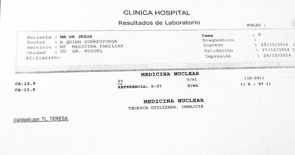 LifEscozul® - María 4 - Cáncer de Cólon