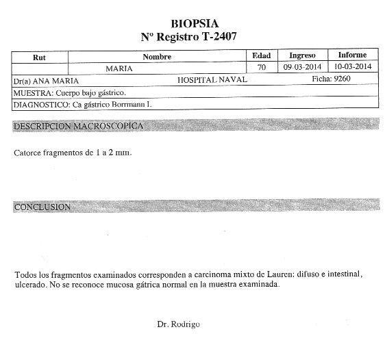 LifEscozul® - María 1 - Cáncer Gástrico Intestinal