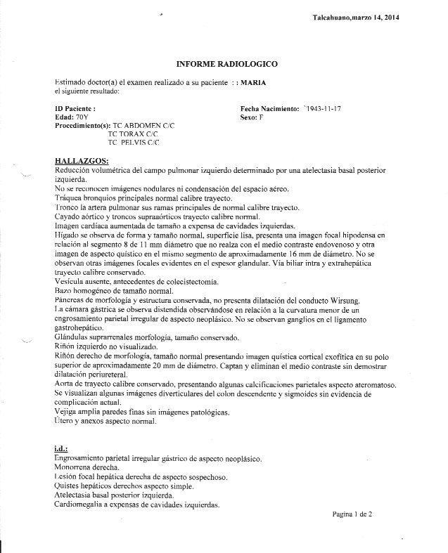 LifEscozul® - María 4 - Cáncer Gástrico Intestinal