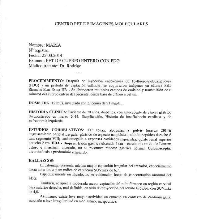 LifEscozul® - María 5 - Cáncer Gástrico Intestinal