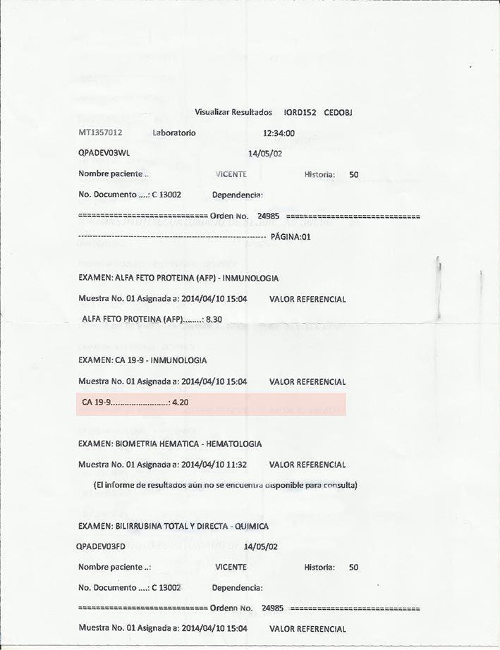 LifEscozul® - Vicente 4 - Cáncer Gástrico Intestinal