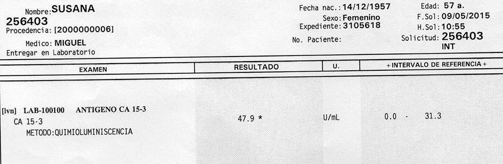 LifEscozul® - Susana 3 - Cáncer de Mámas