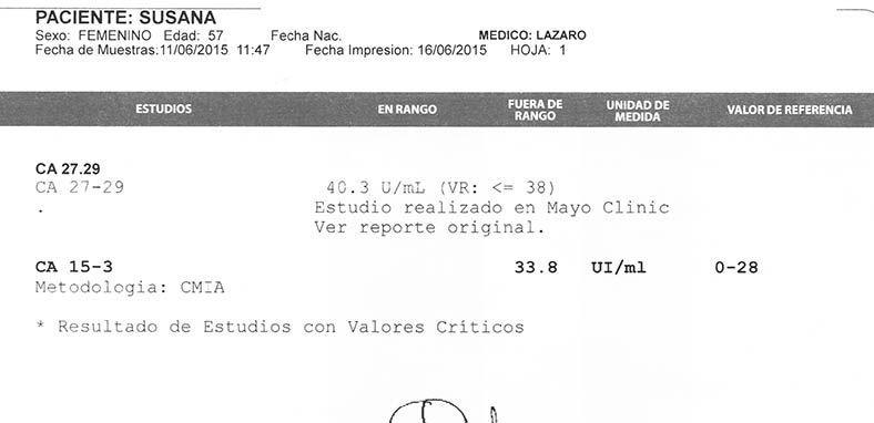 LifEscozul® - Susana 4 - Cáncer de Mámas