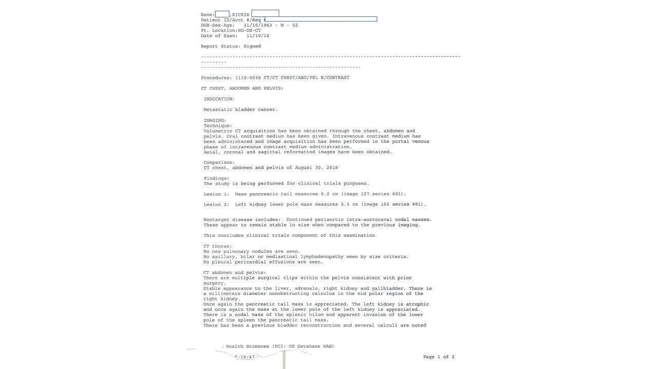LifEscozul® - Rickie 7 - Cáncer de Vejiga