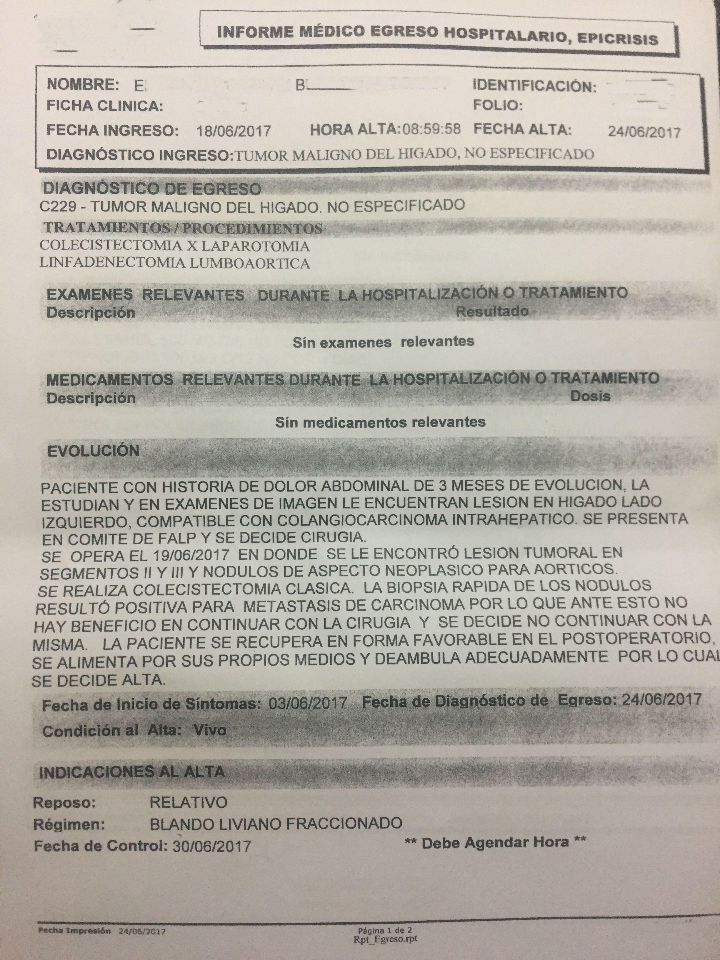 LifEscozul® - E.B. 1 - Cáncer de Hígado