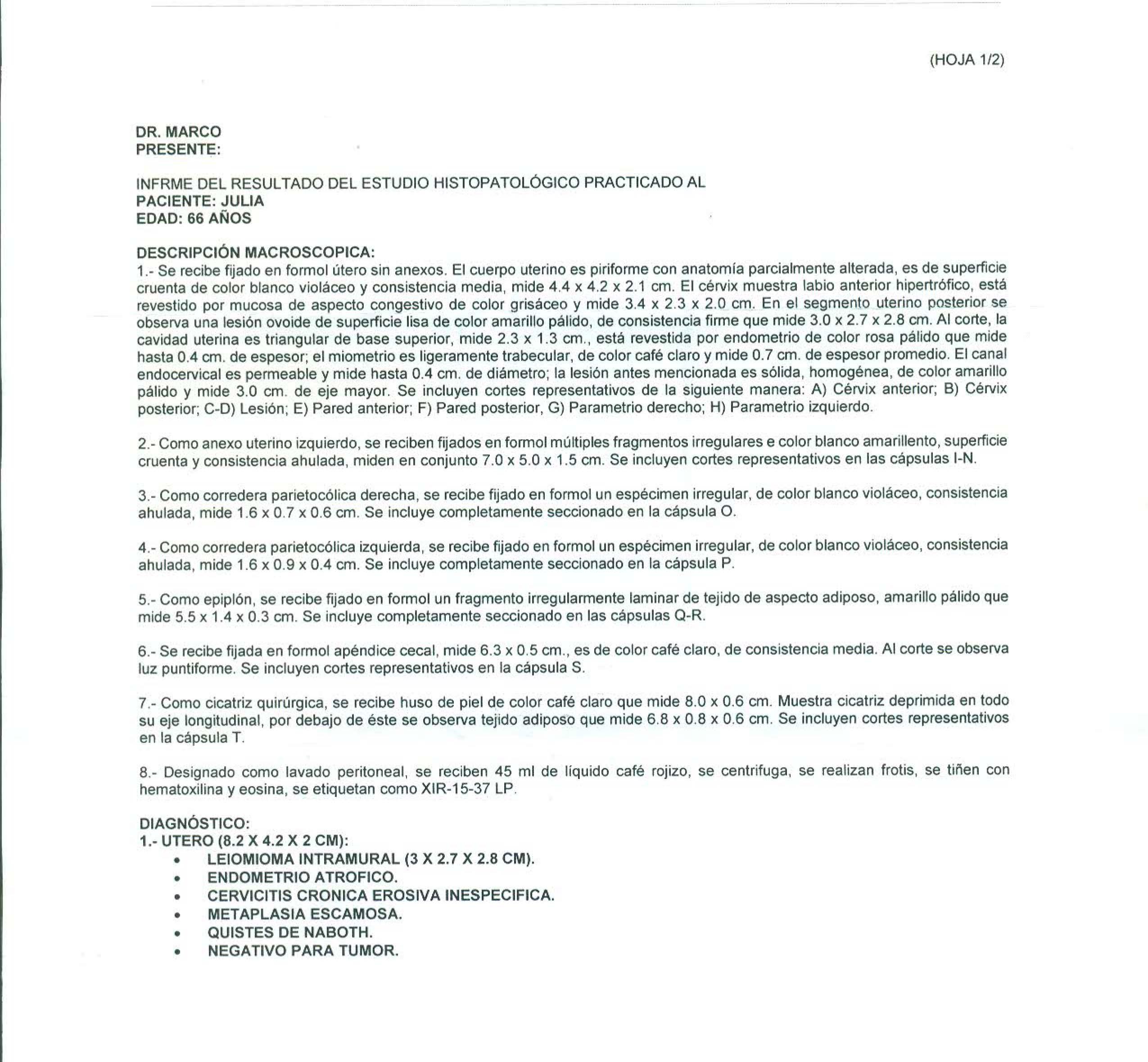 LifEscozul® - Julia 3 - Cáncer de Ovarios