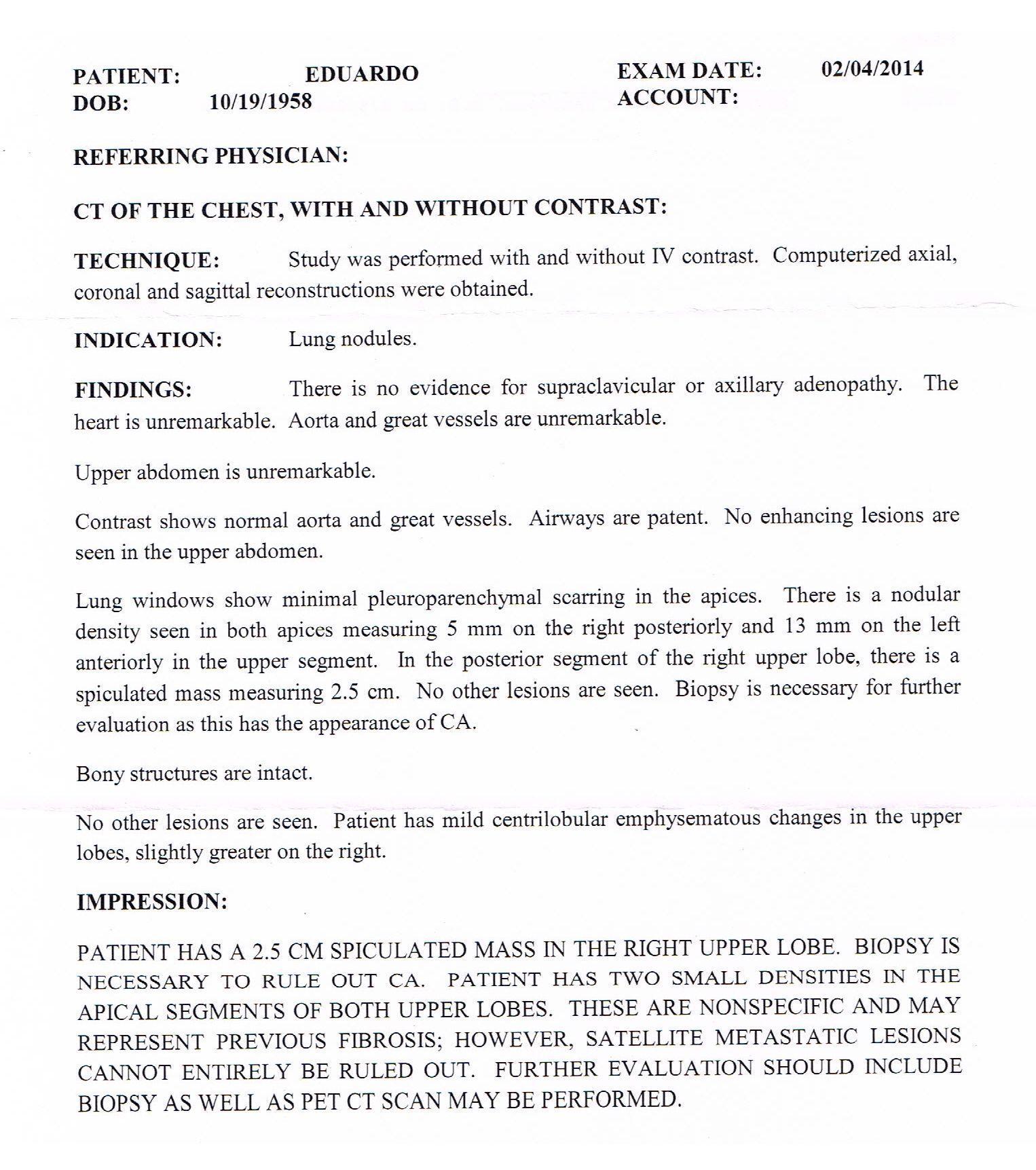 LifEscozul® - Eduardo - Cáncer de Pulmon 1