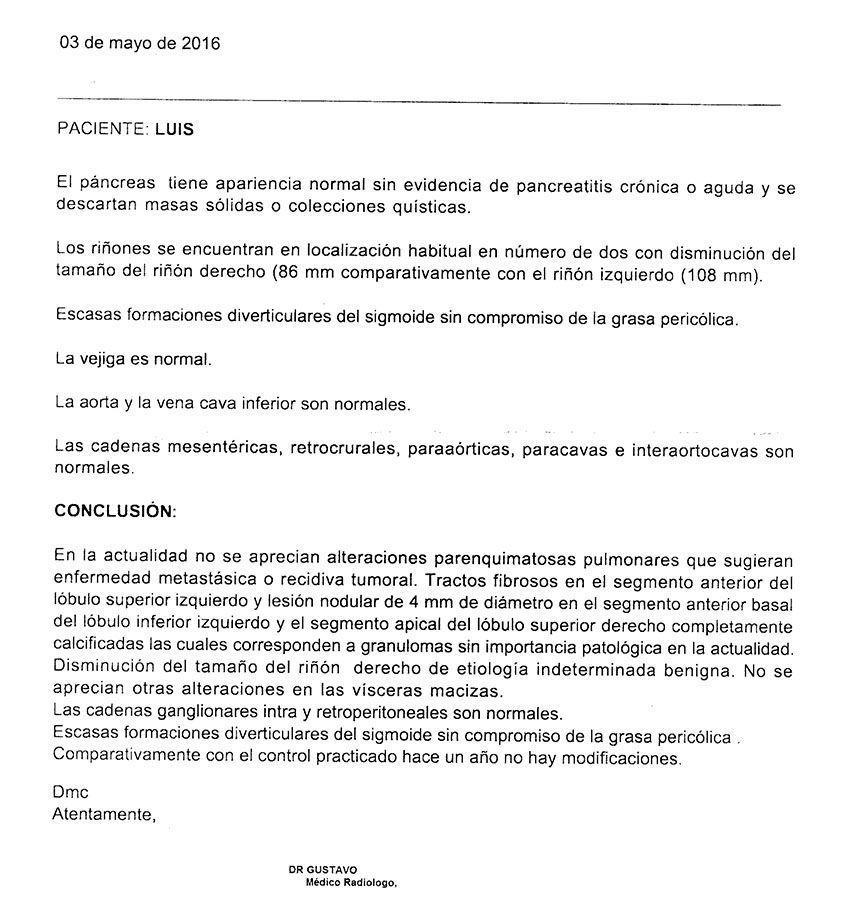 LifEscozul® - Luis 20 - Cáncer de Pulmon
