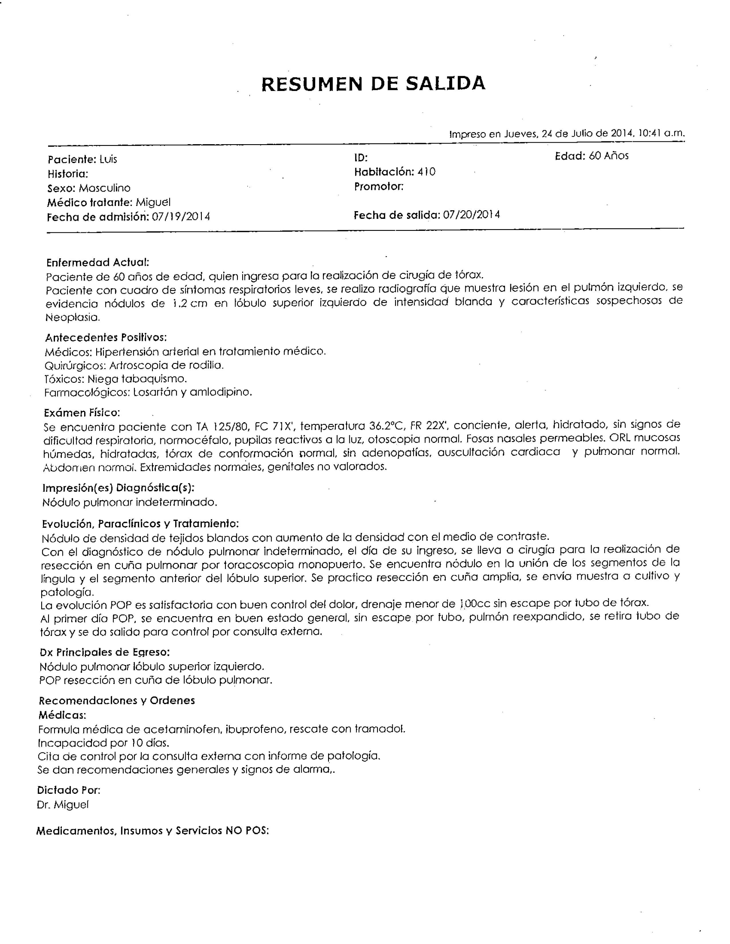LifEscozul® - Luis 2 - Cáncer de Pulmon