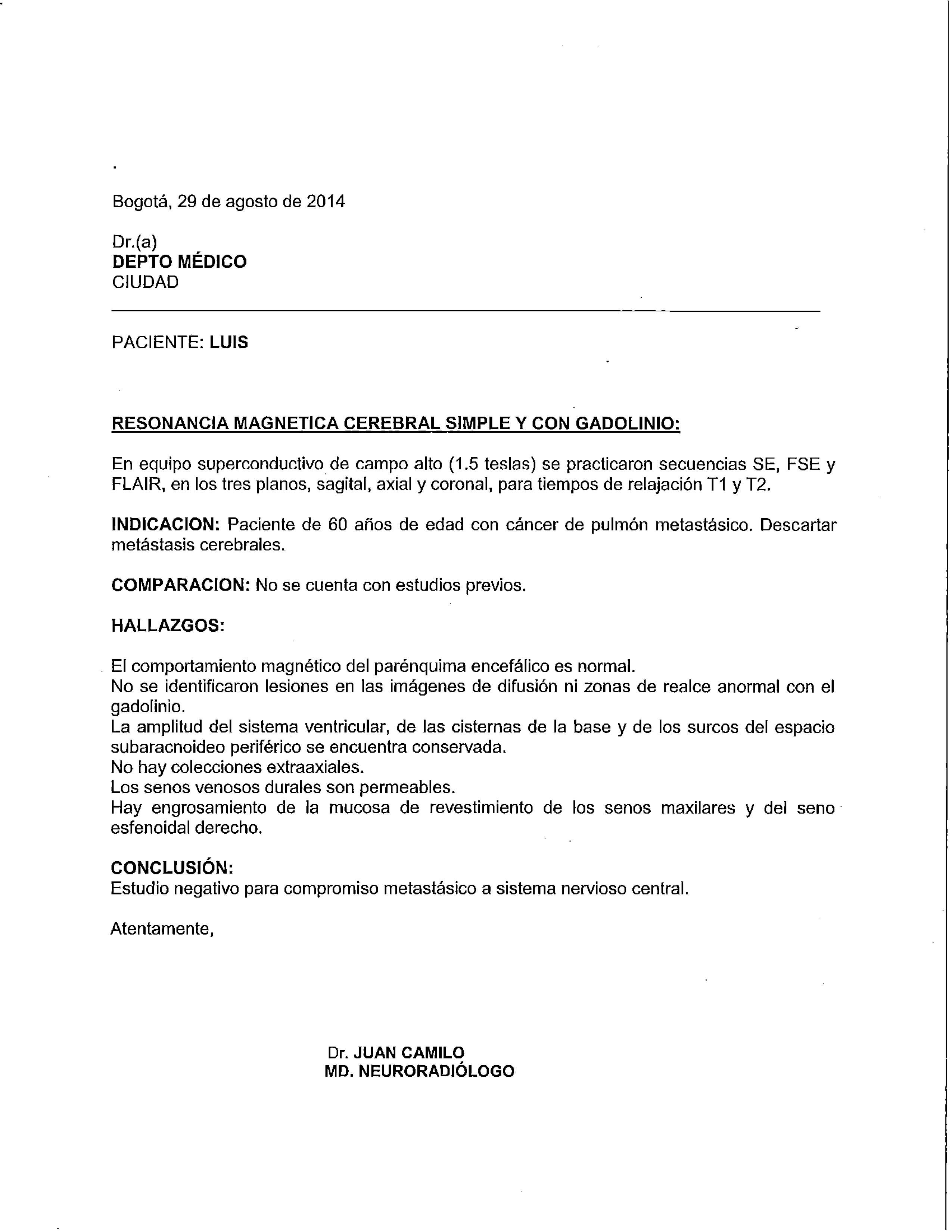 LifEscozul® - Luis 6 - Cáncer de Pulmon