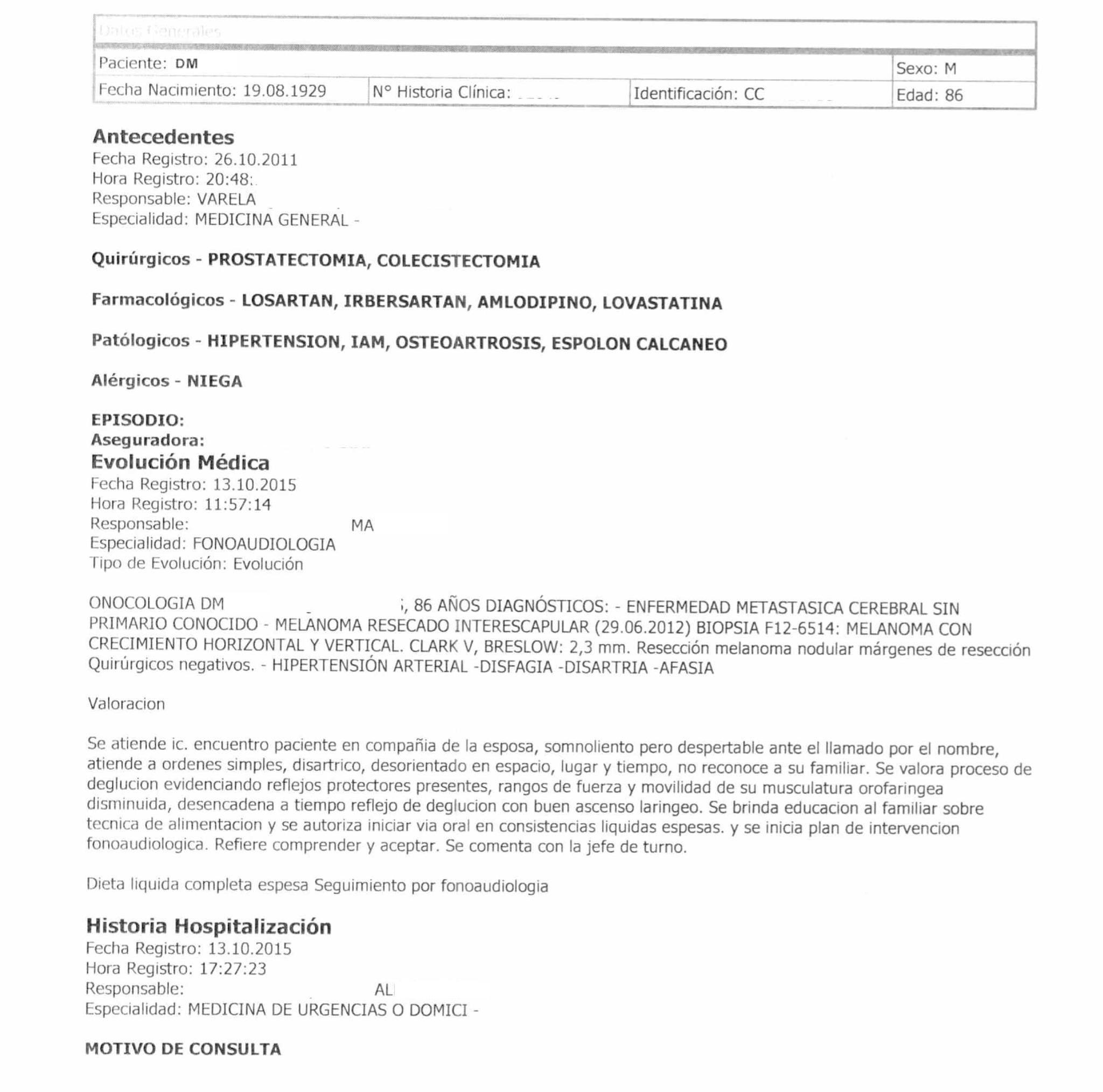 LifEscozul® - Danilo 1 - Cáncer Metastático Primario Desconocido