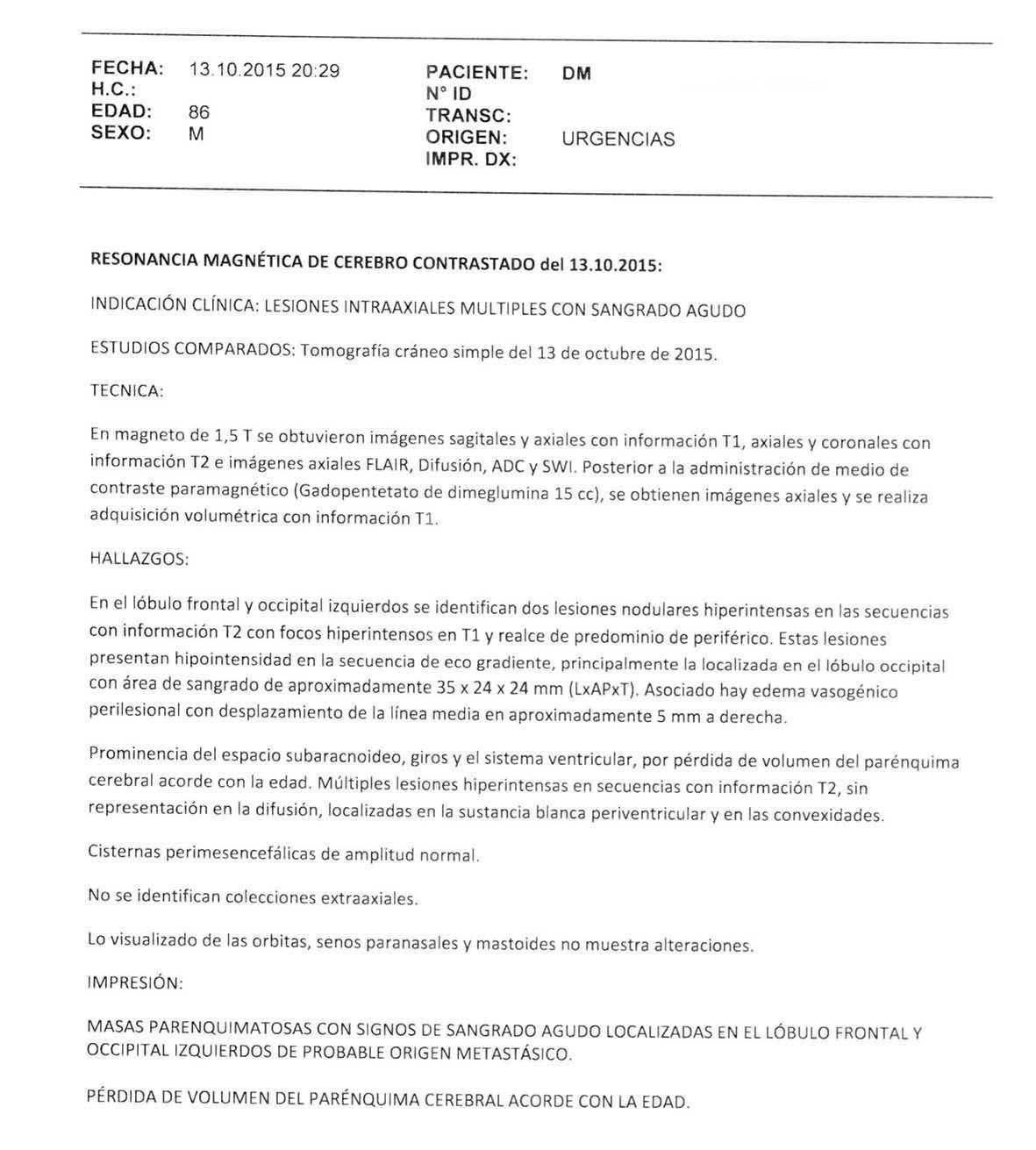 LifEscozul® - Danilo 12 - Cáncer Metastático Primario Desconocido