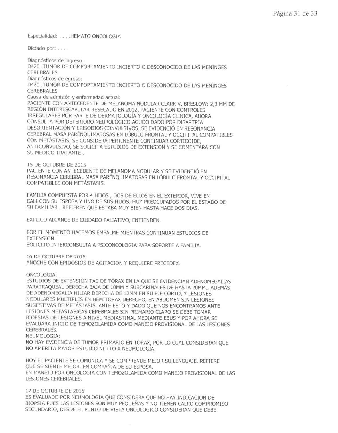LifEscozul® - Danilo 2 - Cáncer Metastático Primario Desconocido