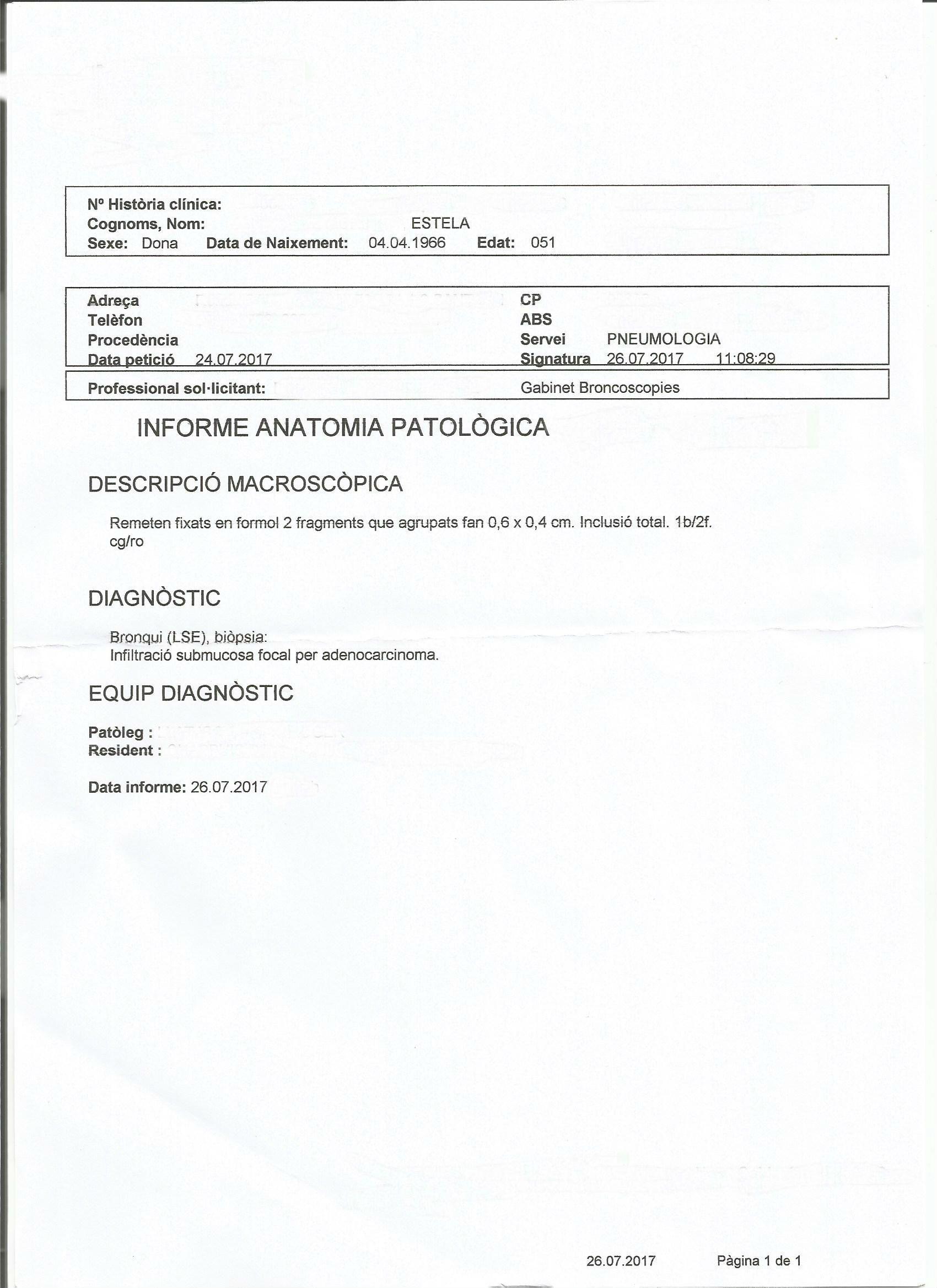 LifEscozul® - Estela 5 - Cáncer de Pulmon