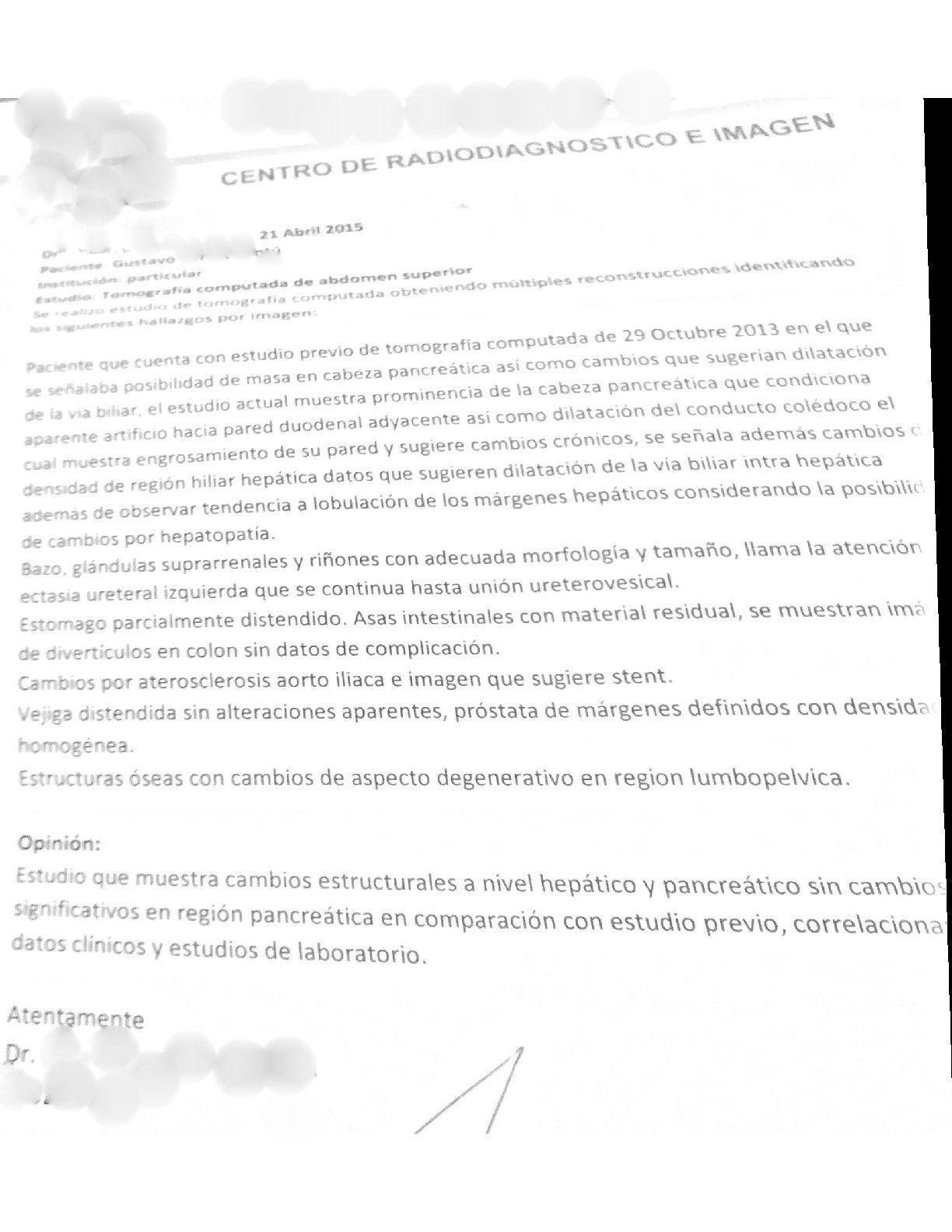 LifEscozul® - Gustavo 8 - Cáncer de Páncreas