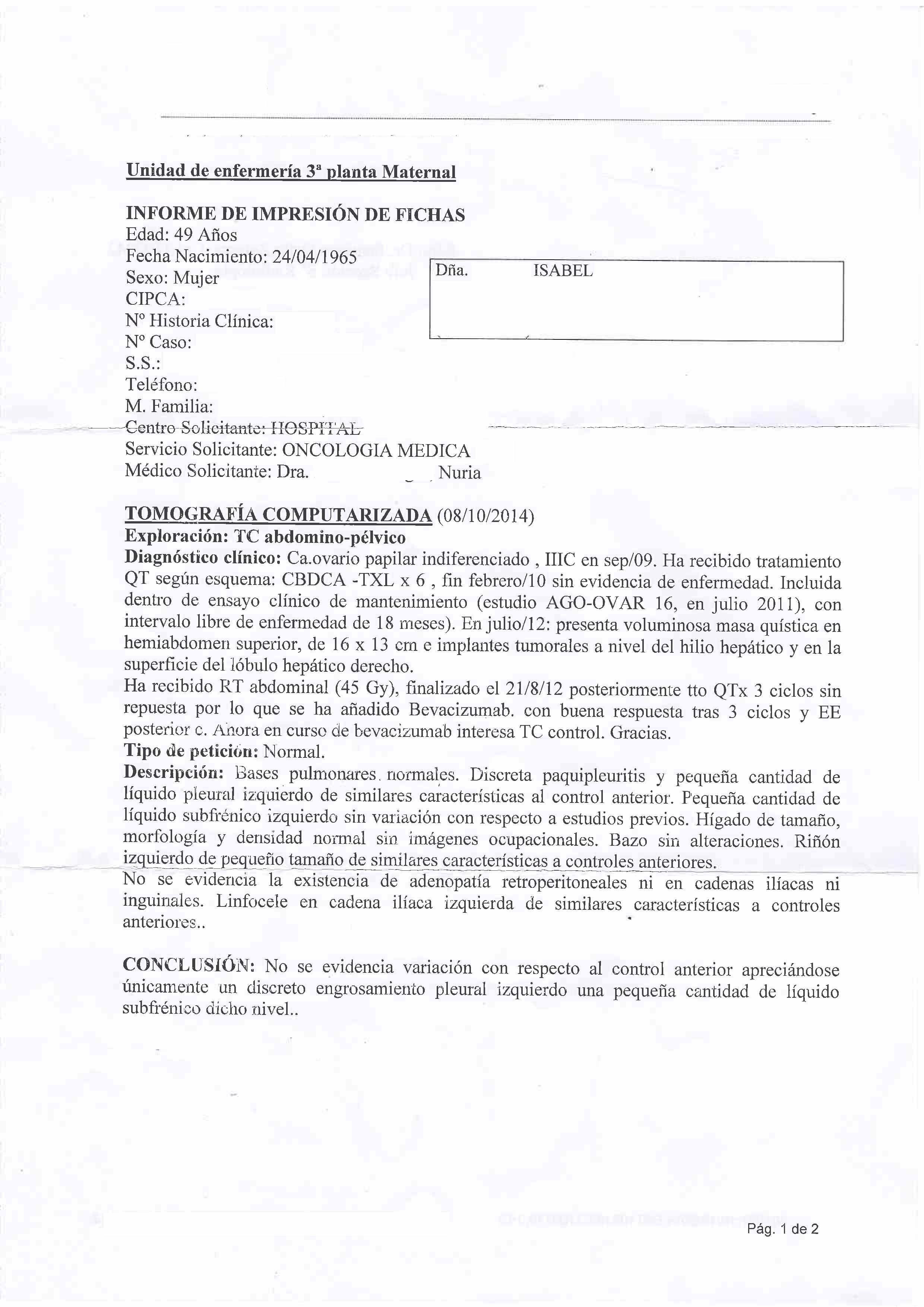 LifEscozul® - Isabel 3 - Cáncer de Ovarios