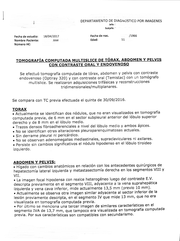 LifEscozul® - José 1 - Cáncer de Cólon