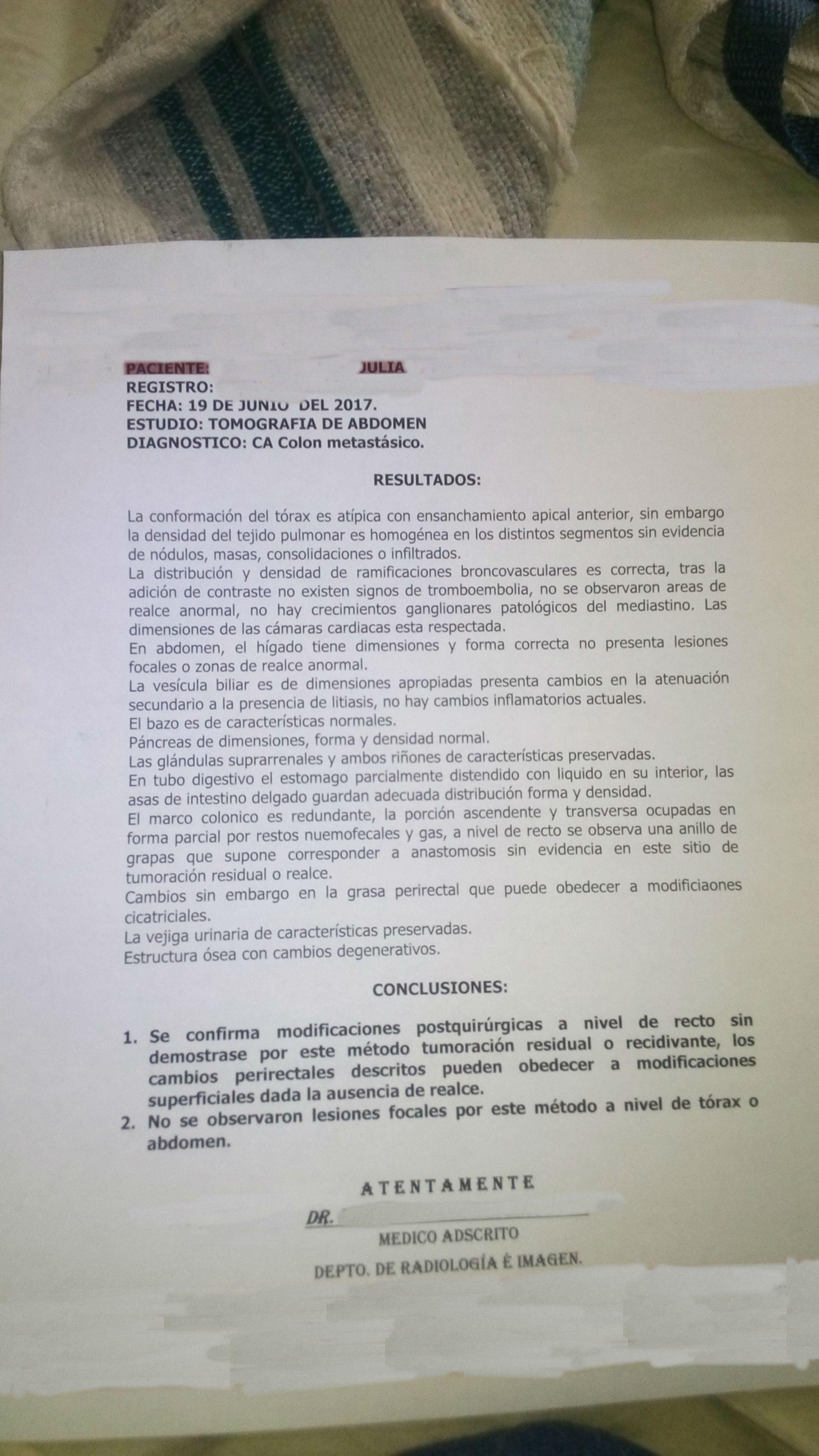 LifEscozul® - Julia 2 - Cáncer de Cólon