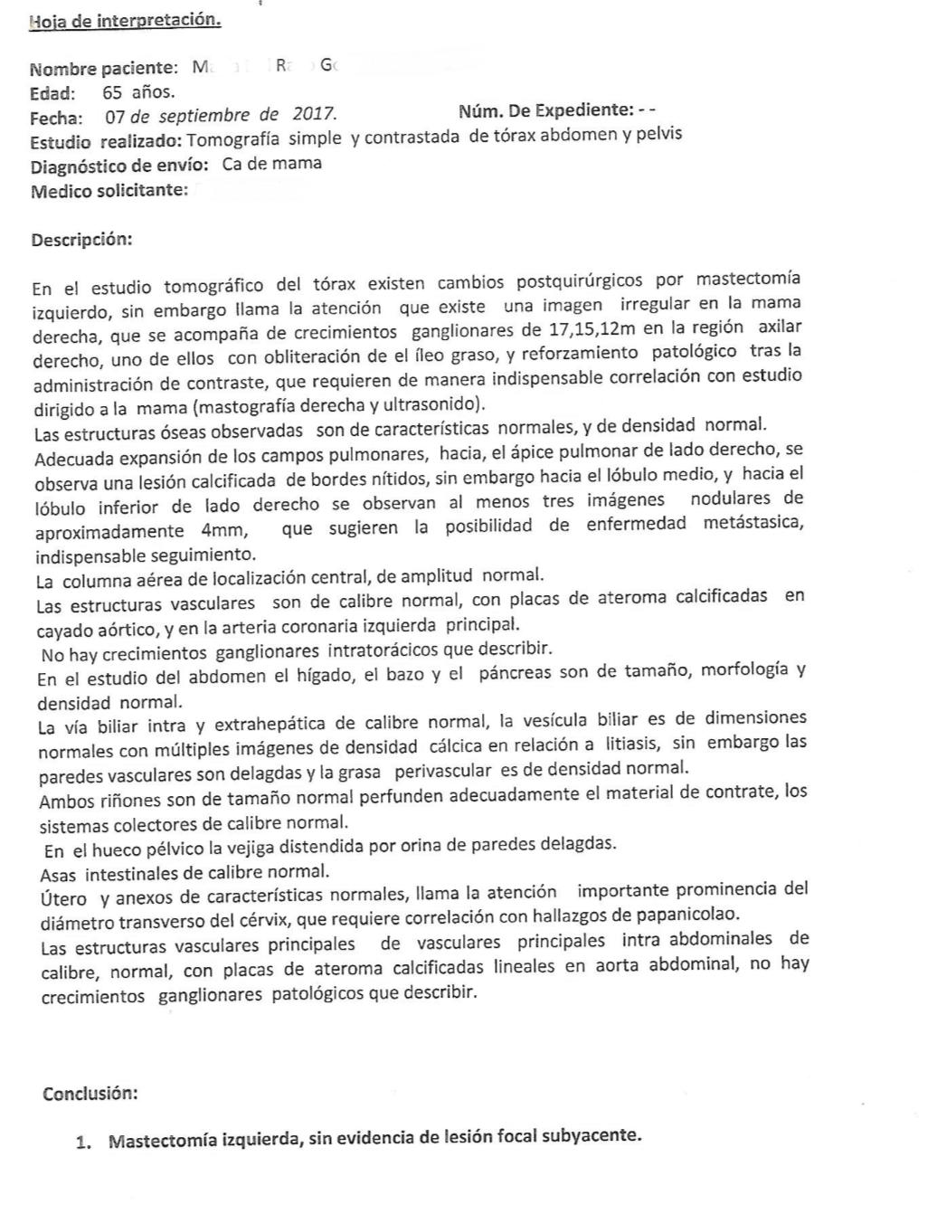 LifEscozul® - M.R.G. 5 - Cáncer de Mámas