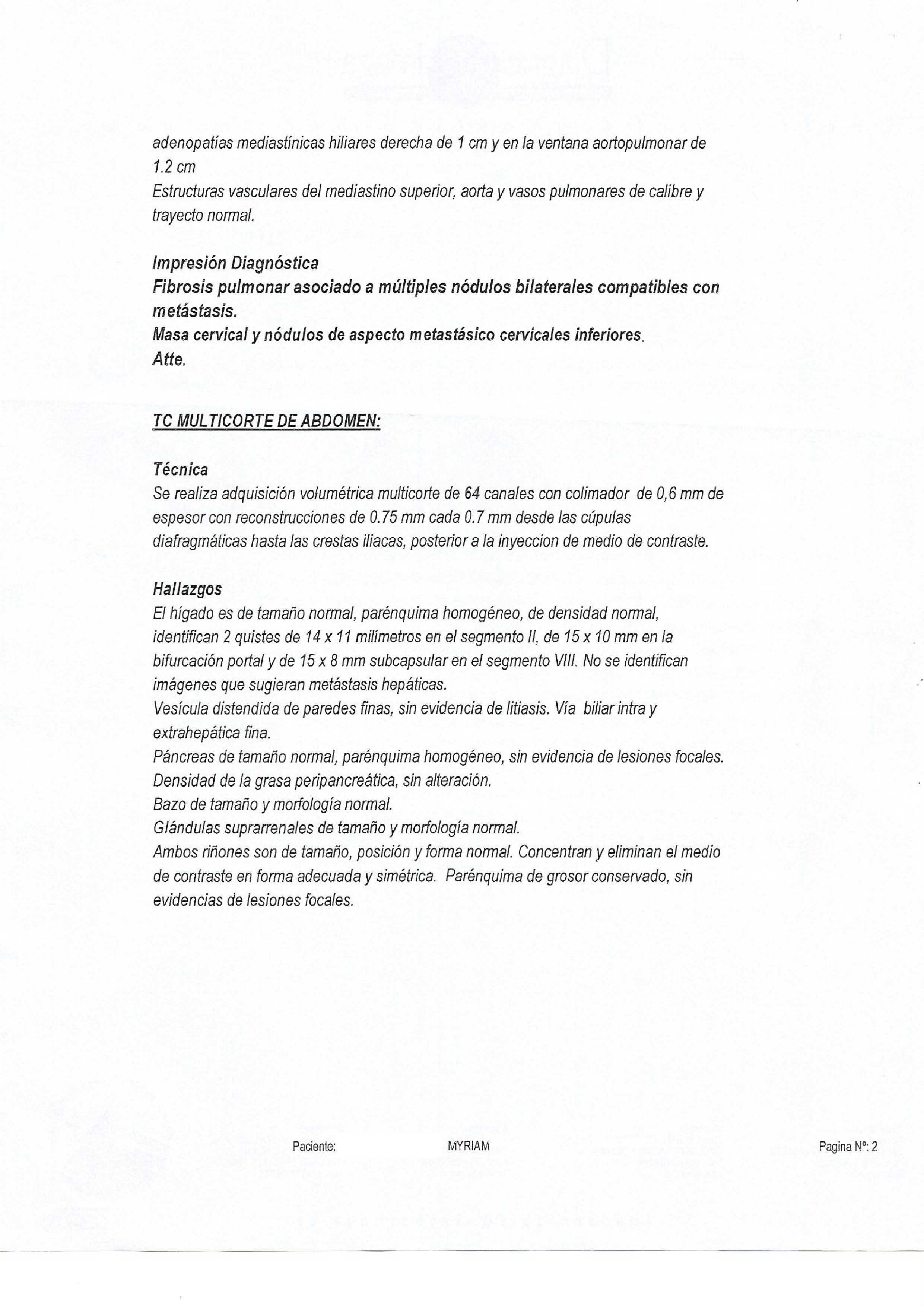 LifEscozul® - Miriam 12 - Cáncer de Pulmon