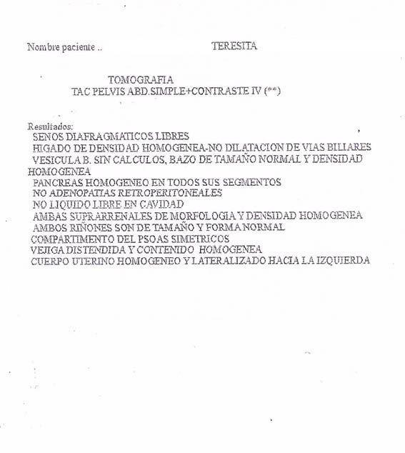 LifEscozul® - Teresita 3 - Cáncer de Ovarios