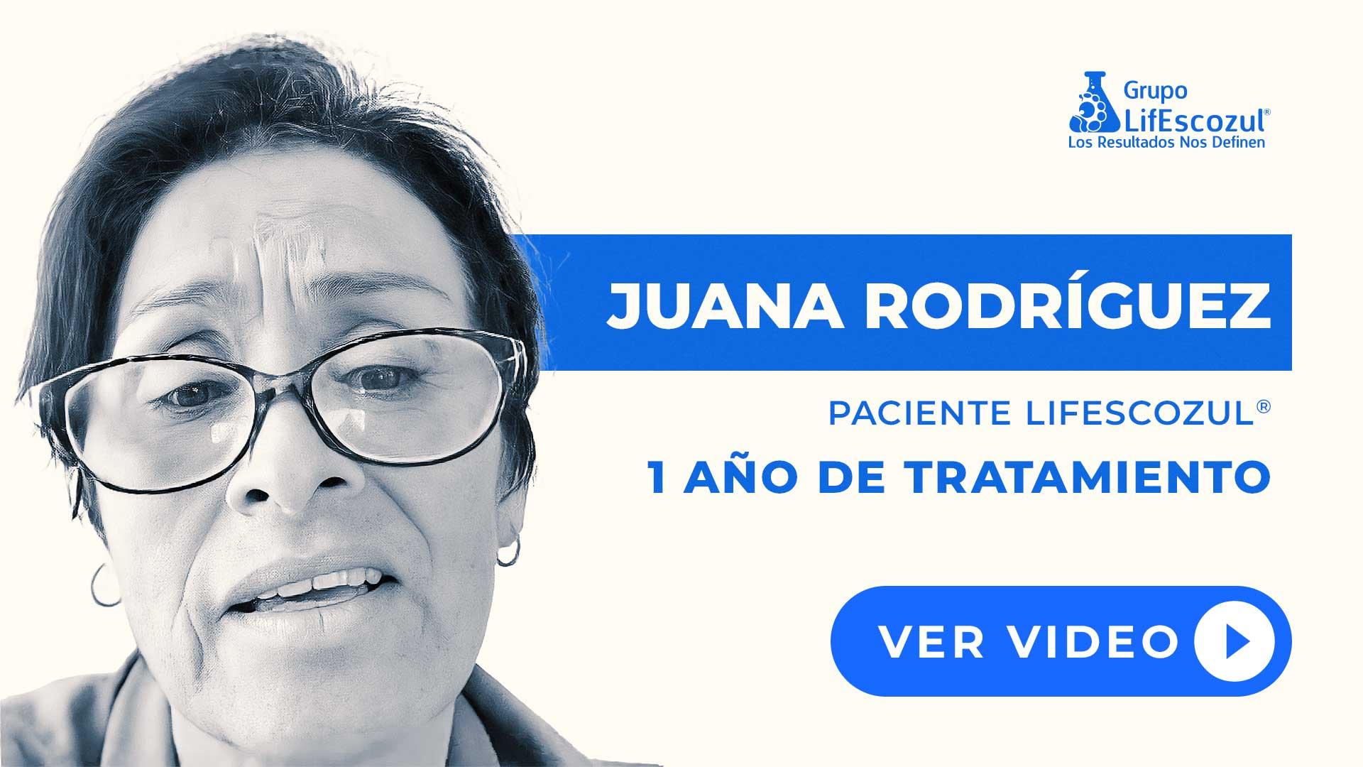 Juana Rodríguez - Cáncer de Páncreas - Resultados con LifEscozul®