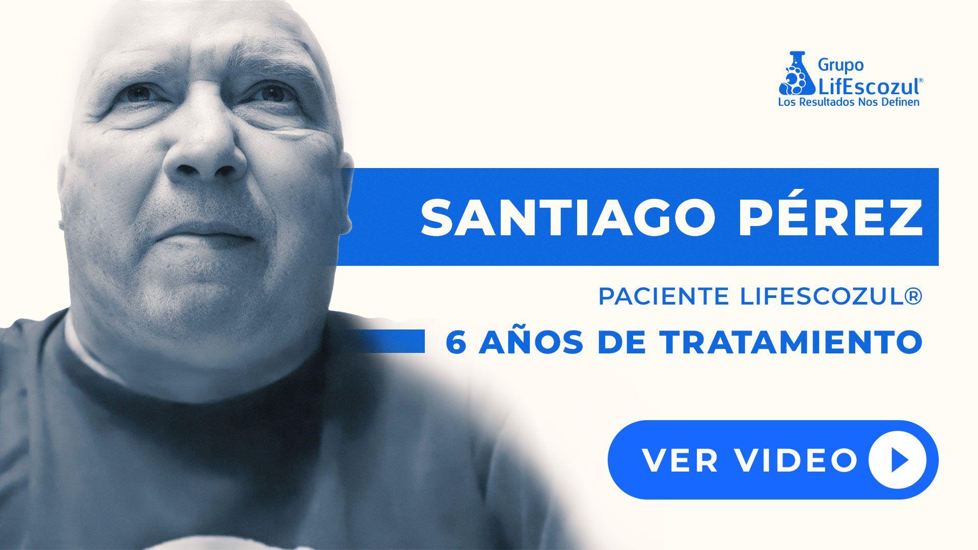 Santiago Pérez - Cáncer de Pulmón - Resultados con LifEscozul®