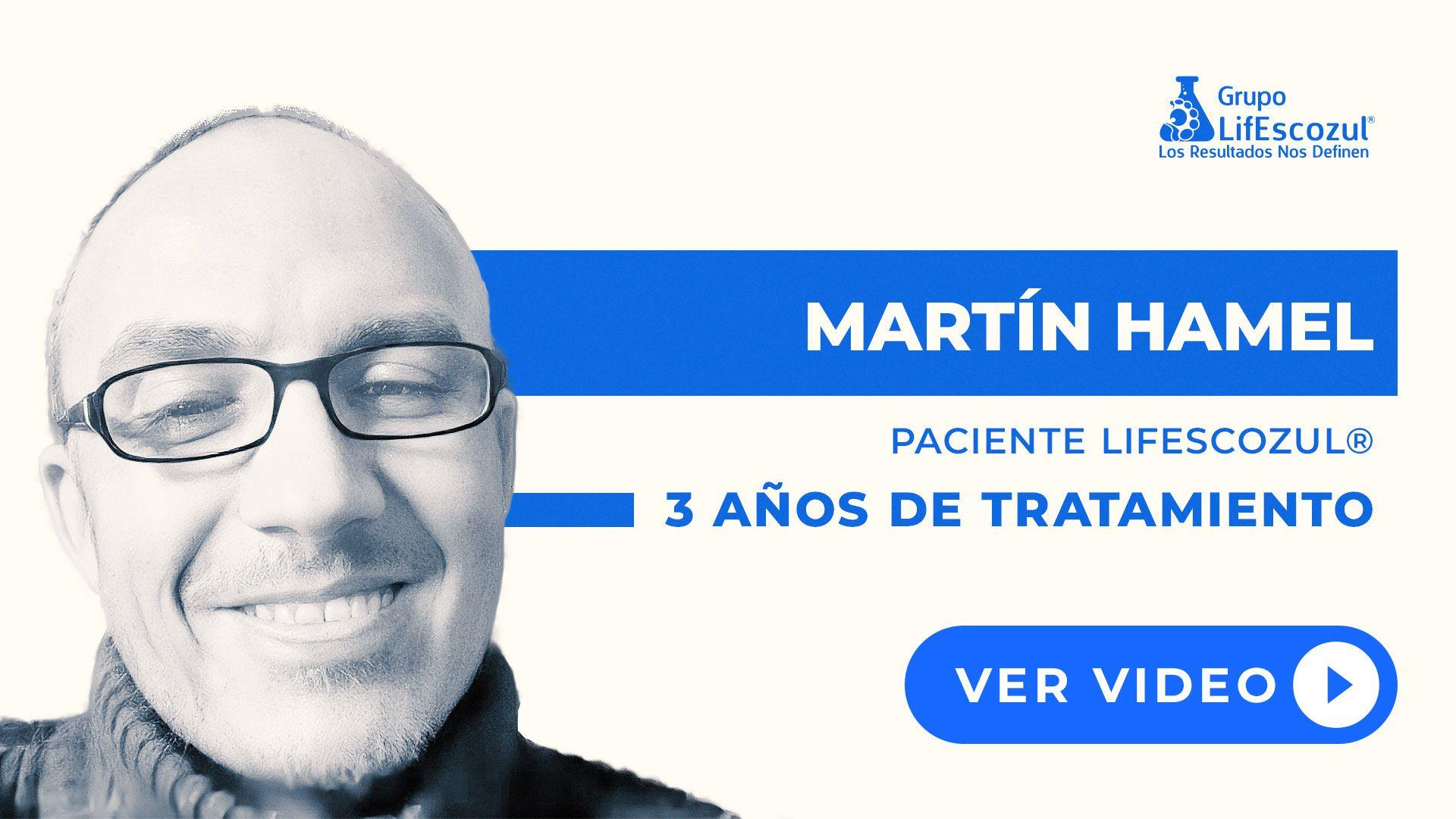 Martín Hamel - Cáncer de Vejiga - Resultados con LifEscozul®